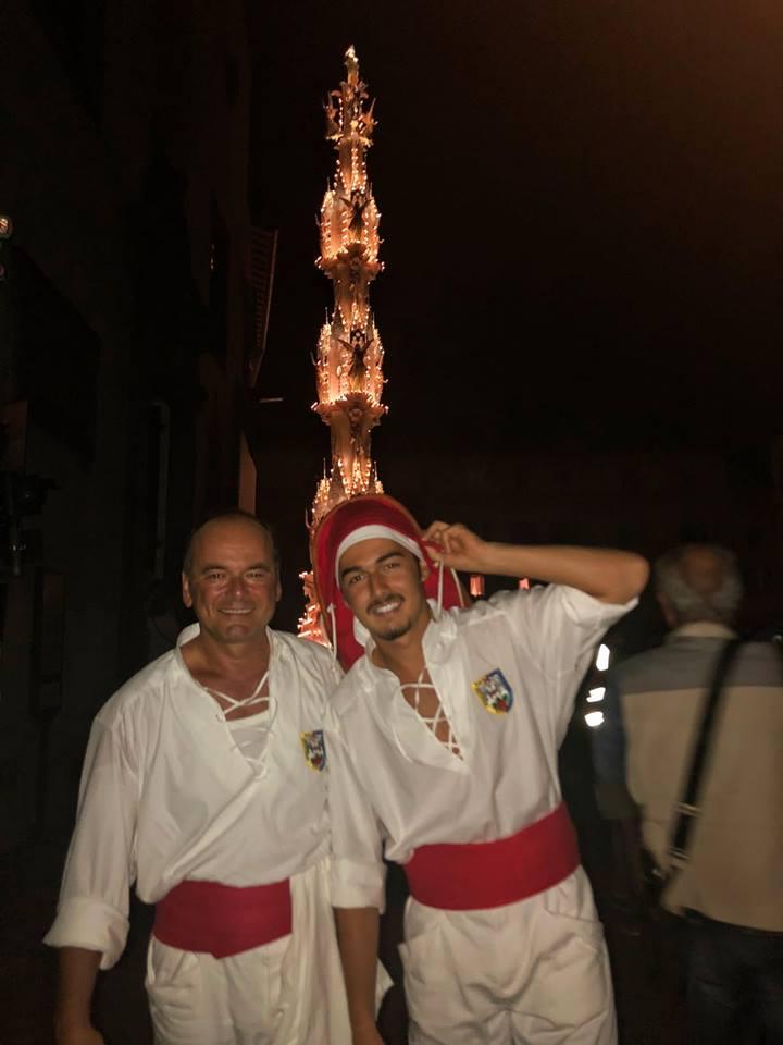 Fasanari Alvaro e il figlio Fabio, 6^ fila ciuffi e 1^ corda. La tradizione continua...